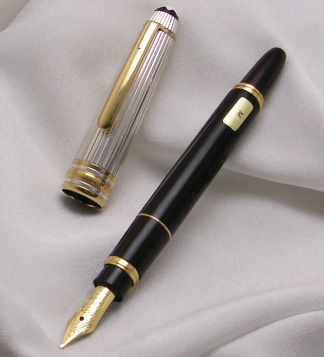 44ae0731fbc9f MONTBLANC Meisterstück Masterpiece Mozart Edition Doue Sterling silver 925 Fountain  Pen ! - PenAntique Pen and